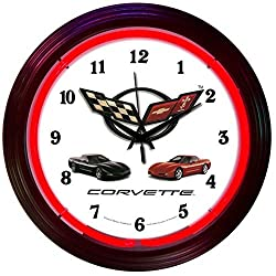 Neonetics Cars and Motorcycles Corvette C5 Neon Wall Clock, 15-Inch by Neonetics