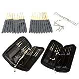 LTC® Original 24pcs Leather Packing Single Hook Lock Pick Starter Kit Practice Tools Lock Training Set for Locksmith