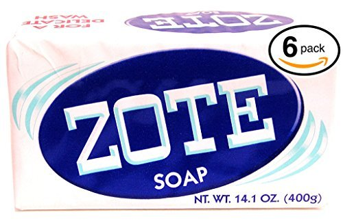 (PACK OF 6 BARS) Zote WHITE Laundry Bar Soap, with Even M...