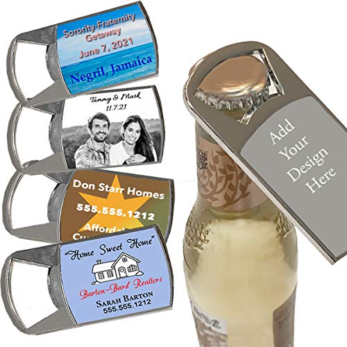 (Custom Personalized Business Promotional Products Wedding Bridal Party Favors, Your Design or Photo, Bottle Opener, Set of 18)