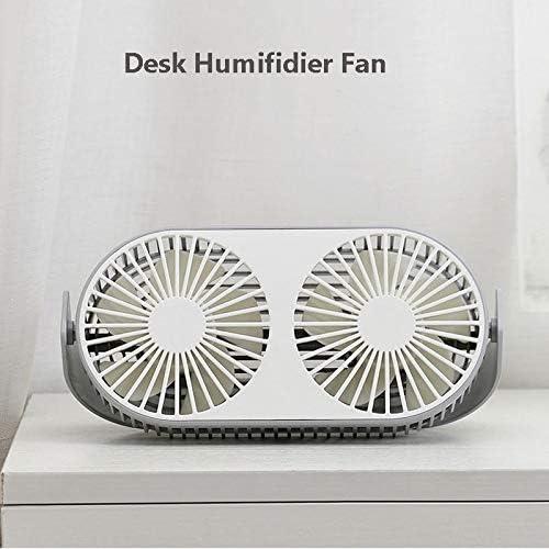 Gray Color : Pink USB Fan YXC Desk Fan USB Small Bean Desktop Desktop Double Leaf USB Mini Fan