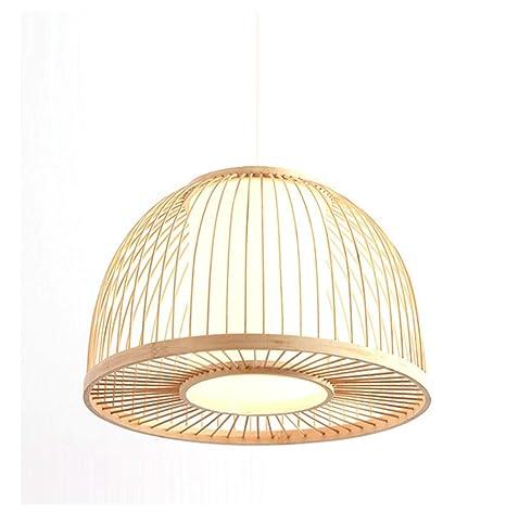 MWG Lámpara de Techo Lámpara Colgante de bambú Semicircular ...