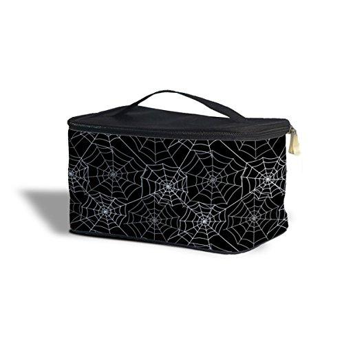 Queen of Cases Spider Webs Cosmetics Storage Case - One Size Cosmetics Storage Case - Makeup Zipped Travel Bag -