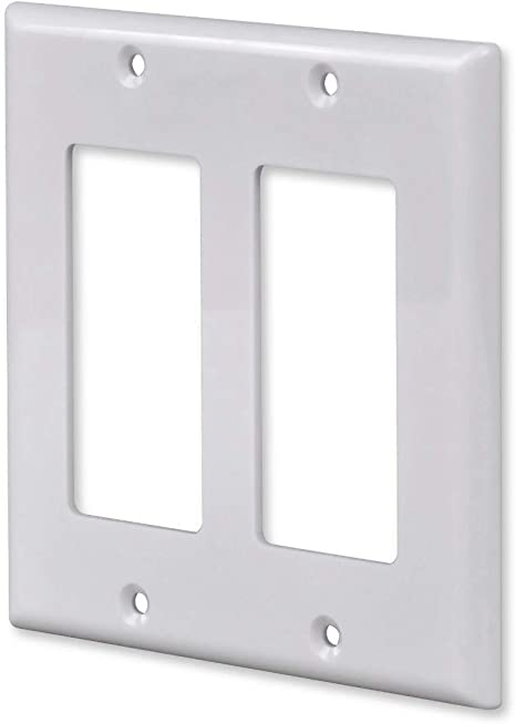 5pcs Unbreakable Screwless Decora Wall Plate Outlet Switch Cover 3 Gang White