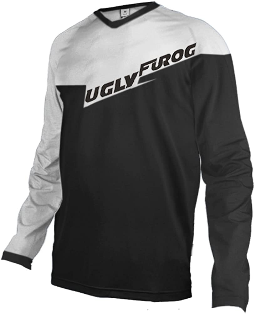Uglyfrog 2018 Herren Mountainbike Downhill Freeride BMX Trikot Shirt Motocross Lange /Ärmel MTB//Downhill Cycling Jersey WRE09