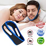 Luckymore Anti Snoring Chin Strap Ajustable Stop Snoring Solution for Men and Women, Anti Snoring Devices Snore Stopper Chin Straps Sleep AIDS for Snoring Sleeping Mouth Breather