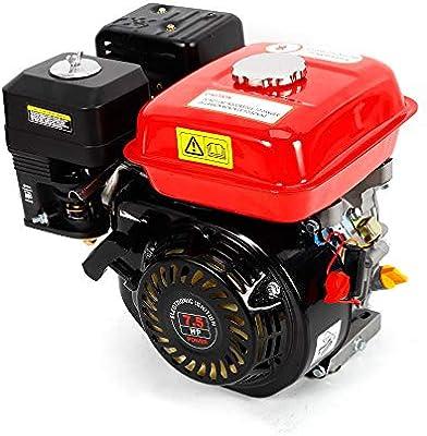 Motor de gasolina de 7,5 CV, 5,1 kW, refrigeración de aire forzado de 4 tiempos, 210 ml, desplazamiento estrecho, Rojo
