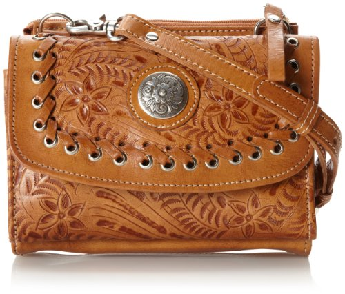 American West Texas 2 Step Grab-and-Go Combination Bag Shoulder Bag Golden Tan One Size ()