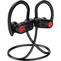 Knpaimly Bluetooth 5.0 Wireless IPX7 Waterproof Running Sport Earphones with Noise Cancelling Mic