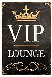 ERLOOD VIP Lounge Vintage Tin Sign Wall Retro Metal Bar Pub Poster Metal 12 X 8
