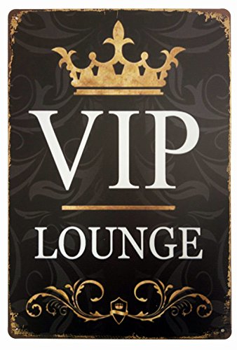 ERLOOD VIP Lounge Tin Sign Wall Retro Metal Bar Pub Poster Metal 12 X 8