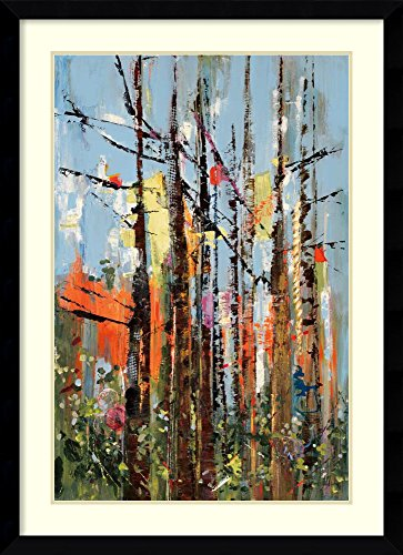 Framed Art Print 'Eclectic Forest' by Rebecca Meyers: Outer Size 33 x 45