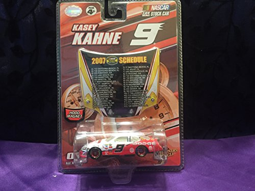 2007 Limited Edition Kasey Kahne #9 Dodge Charger Dodge Dealers White & Red 1/64 Scale Car With Bonus Magnet Hood Winners Circle