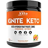 IGNITE KETO Drink - Instant Exogenous Ketones Supplement - 12g Pure BHB Salts - Fuel Ketosis, Energy, Weight Loss and Focus - Best goBHB Ketone Drink Powder Mix - Perfect for Low Carb Keto Diet