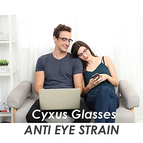 Cyxus Blue Light Blocking [Semi-Rimless] Computer Glasses, Anti UV Eye Strain Clear Lens Reading Video Eyewear, Men/Women by Cyxus (Image #6)