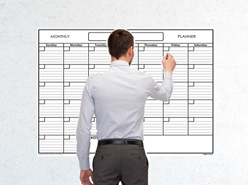 SwiftGlimpse Reusable Calendar Laminated Monthly