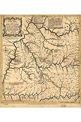 Poster: Map of Kentucky (Kentucke); Antique Map; Historic Cartography, 1784