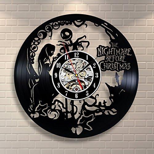 Nightmare Before Christmas Home Decor Vinyl Record Clock Wall Art