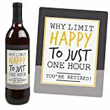 Retirement Party - Gifts for Women and Men - Wine