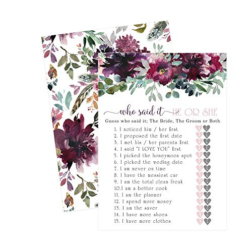 Paper Clever Party Shabby Floral Bridal Shower Game