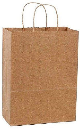 Amazon.com: Duro SHOP13-50PK 50 Paper Retail Shopping Bags Kraft ...