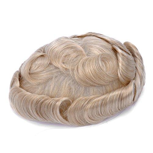 [GEX 65 Colors Mens HairPiece Toupee Men's Wig Medium Density Human Hair Replacement Systems Vivid Men's Toupee Mirage PU Basement(613#)] (Stock And Bond Halloween Costume)