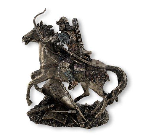 Samurai Warrior Archer On Horseback Statue (Horseback Statue Figure)