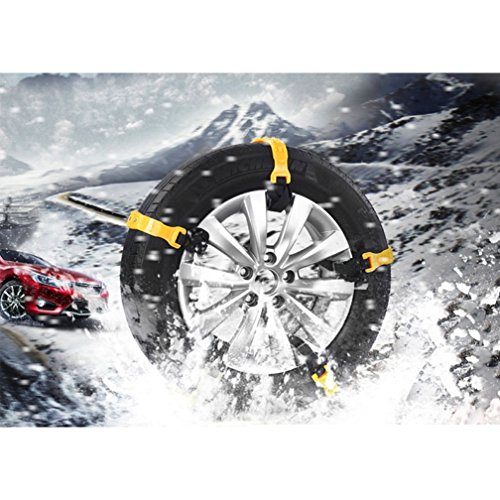 Mayper Tire Chains Snow Chains for Car/SUV/Trucks/ATV Anti-Skid Emergency Snow Tire Chains Adjustable Car Security Chain for Snow Ice Mud Width:185-295mm/7.2-11.6'' by Mayper (Image #4)