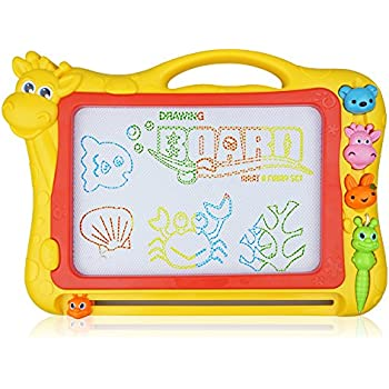 Magnetic Drawing Board, 12.8 Inch Drawing Area Colorful Magna Doodle for Kid Learning