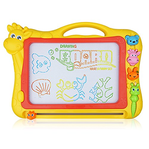 Magnetic Drawing Board, 12.8 Inch Drawing Area Colorful Magna Drawing Doodle Board for Kid (Mega Doodle)
