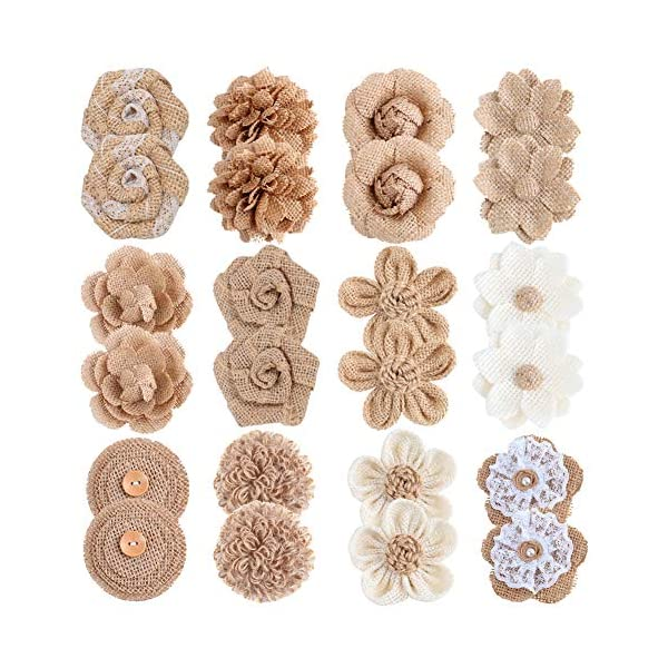 APICCRED-24PCS-Burlap-Flowers-for-Crafts-12Styles-Natural-Handmade-Rustic-Rose-Flower-for-Burlap-Decoration-DIY-Craft-Bouquets-Home-Wedding-Christmas-Party-Decoration