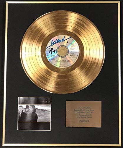 Price comparison product image Century Music - U2 - Exclusive Limited Edition 24 Carat Gold Disc - The Joshua Tree