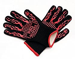 Best Starloop Bbq Gloves Grilling Gloves 932℉ Heat Resistant For Smoking Meat Baking Fireplace Welding High Temp Barbecue Durable Silicone Glove Oven Cooking Mitt Potholders Practical