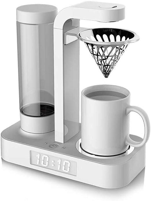 Cafetera Automática Drip Coffee Maker Filtro Permanente Y Reloj LED Para Viajes En El Hogar Oficina,White: Amazon.es: Hogar