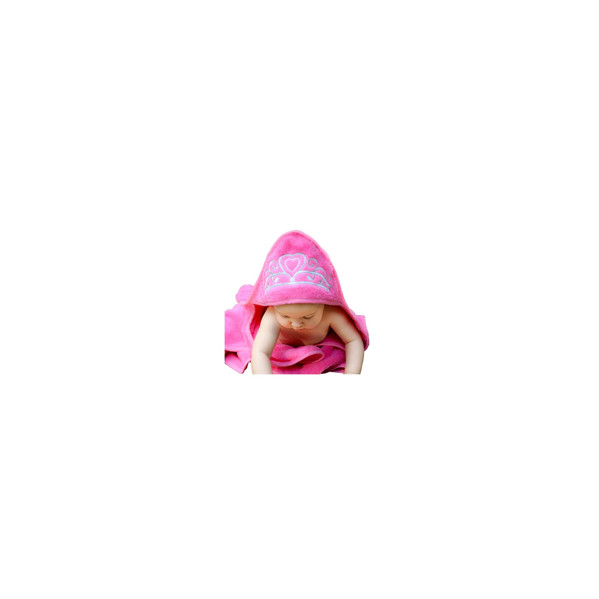 Princess Hooded Baby Towel (Pink), 29″ x 29″, Plush and Absorbent Luxury Bath, Beach, Pool Towel! 600 GSM, 100% Cotton