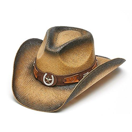Shoes Saddleback (Saddleback Hats Horseshoe Star Paper Straw Western Cowboy)