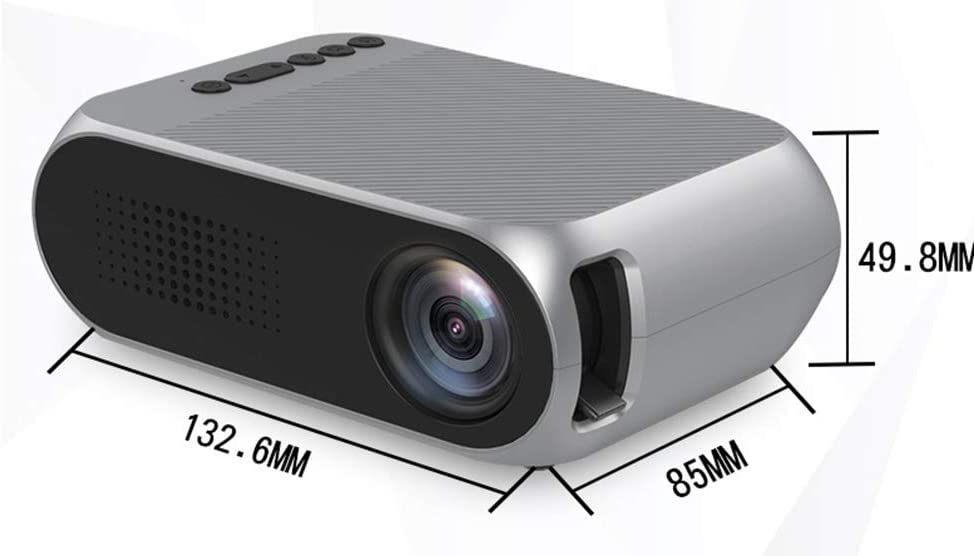 Wufly Proyector Portátil De Casa, 1080P HD LED Mini Proyector De ...