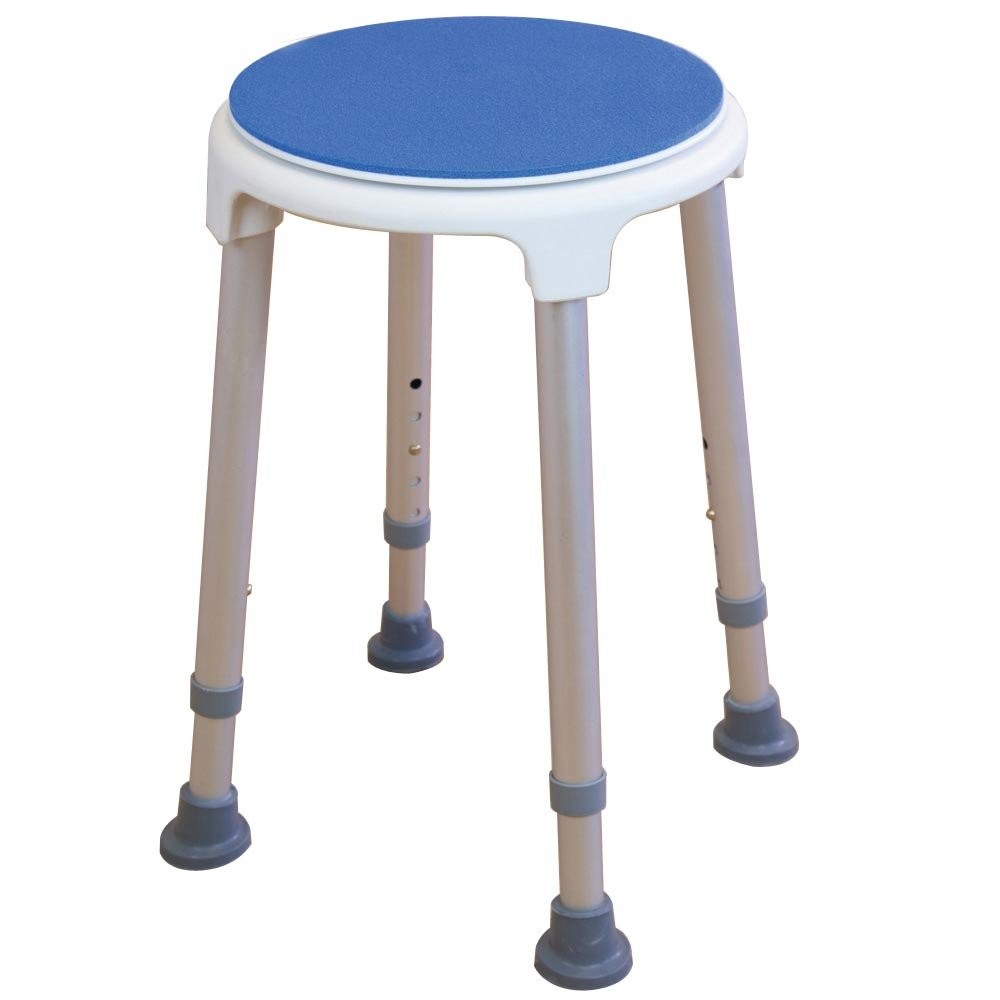 Buy Nrs Healthcare Shower Stool With Rotating Swivel Seat Online at ...