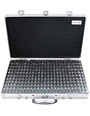 Accusize Industrial Tools 0.251''-0.500'', 250 Pc Steel Plug Pin Gage Set, Minus, Class Zz, Packed into an Aluminum Case, M2(-) A