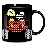 Charlie Brown And Snoopy Jeep Ceramic Coffee Mug 11oz & 15oz Tea Cups