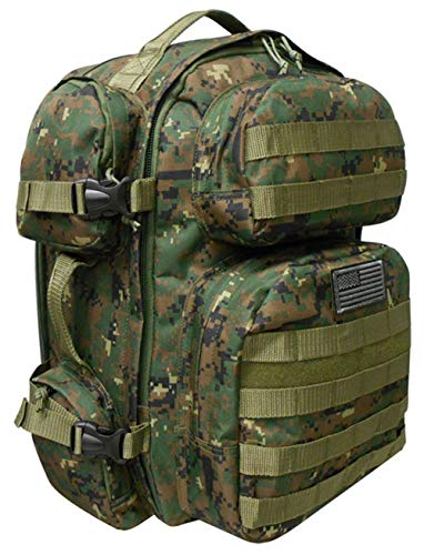 - NPUSA Men's Large Expandable Tactical Molle Hydration-Ready Backpack Daypack Bag - Marine Digital Camo