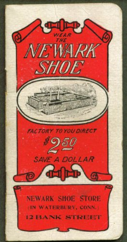 Newark Shoe Store Waterbury CT pocket notebook - Stores Waterbury