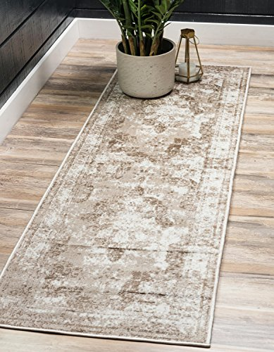 Unique Loom Sofia Collection Traditional Vintage Beige Runner Rug (2' x ()