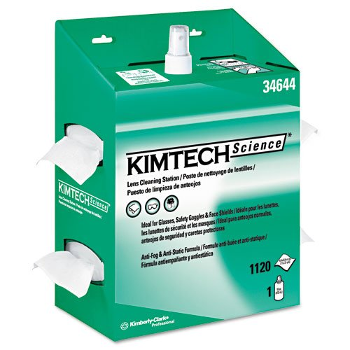 Kimwipes Science Lens Kimtech - KIMBERLY-CLARK PROFESSIONAL* KIMTECH SCIENCE KIMWIPES Lens Cleaning, POP-UP Box - Includes four kits containing 1120 wipers and one 16-oz bottle of cleaning solution.