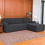 subrtex Stretch Sofa Cover L Shape Spandex Jacquard Fabric Sectional Sofa Slipcovers, Anti-Slip Furniture Protector…