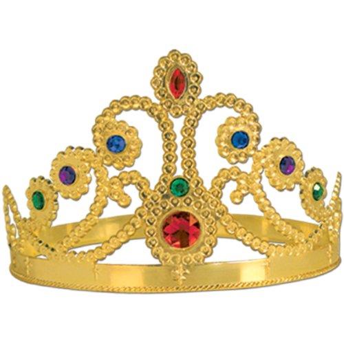 Plastic Jeweled Queens Tiara Accessory