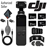 DJI Osmo Pocket Gimbal w/Card Reader - 128GB Micro SD x2-64GB Micro SD x 2 and More