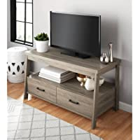 Mainstays Logan TV Stand For Flat Screen TVs up to 47 and up to 50 lbs., Rustic Oak