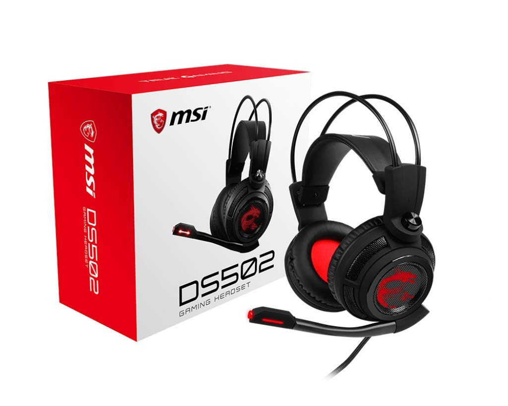 02ad6b5da71 Amazon.com: MSI Gaming Headset with Microphone, Enhanced Virtual 7.1  Surround Sound, Intelligent Vibration System (DS 502): Computers &  Accessories