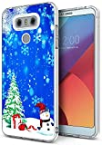 phone cases for a lg slide phone - Snowflake Cases for LG G6,Gifun [Anti-Slide] and [Drop Protection] Clear Soft TPU Premium Flexible Protective Cases for LG G6/for LG G6 Plus - Christmas Tree and Snowman Snowflake